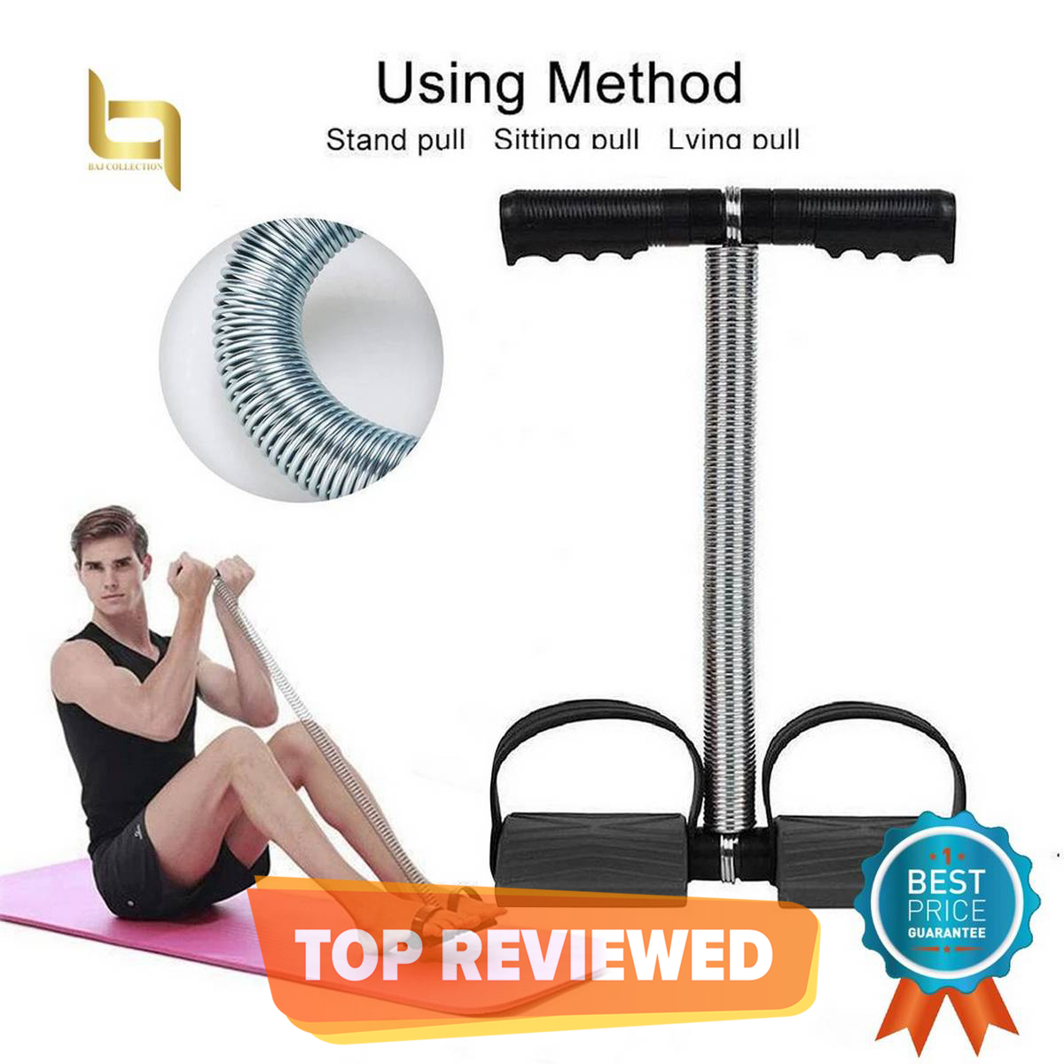 Tummy Trimmer Body Exerciser Machine Single Spring (High Quality) Home Gym For Man And Women