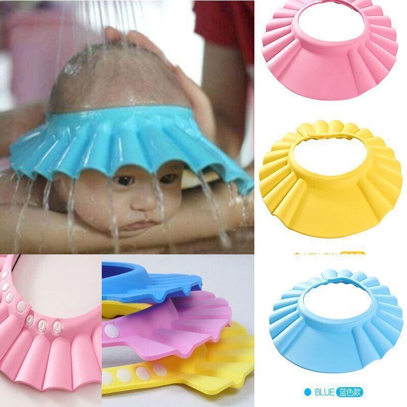 Adjustable Baby Shower Cap Child Kids Shampoo Bath Hat Wash Hair YJS Dropship