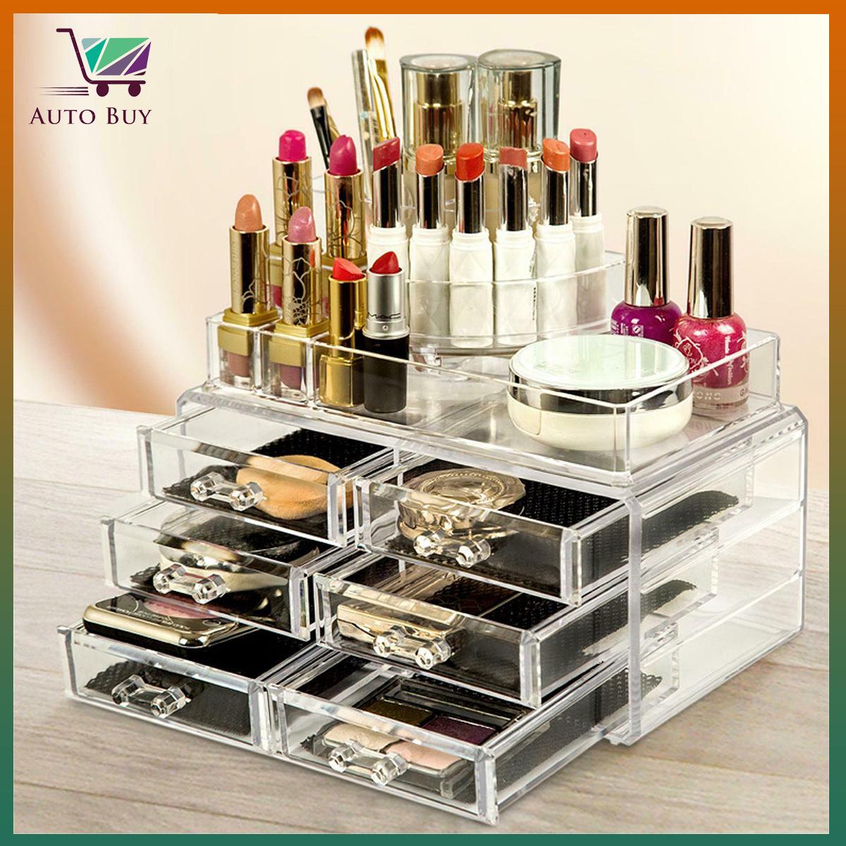 Plastic Acrylic 6 Drawers Jewelry Cosmetic Organizer Good Qaulity Cheap Price Make Up Organizer Makeup Organizer Holder Box Case - High Quality Organizer