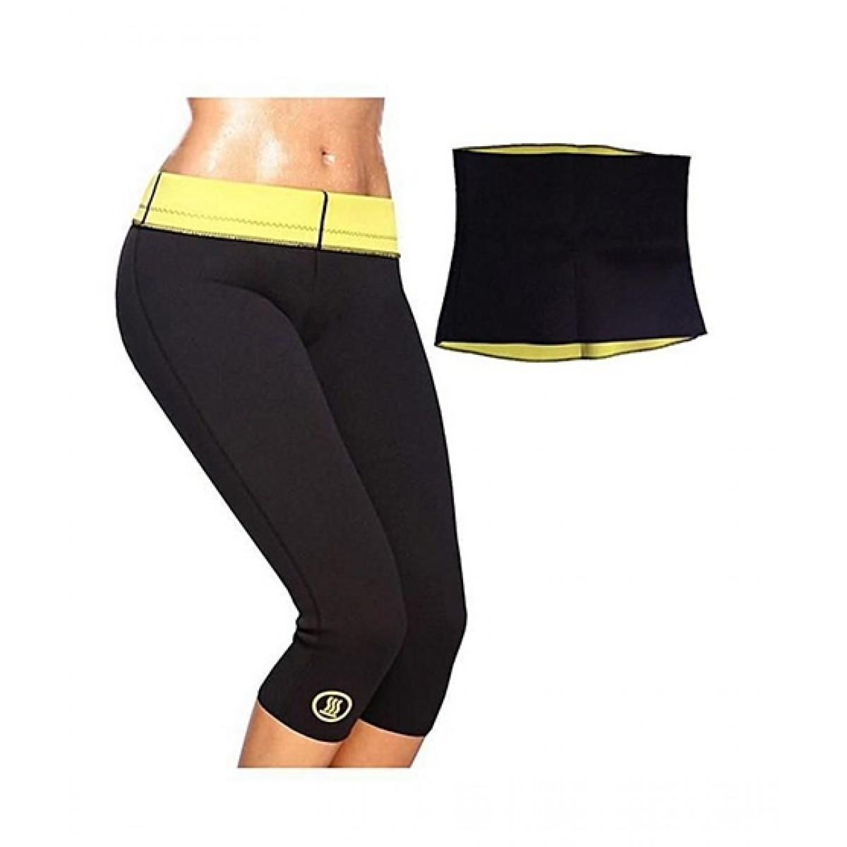 85d372f99 Pack of 2 - Slimming Pant   Hot Belt - Black   Yellow