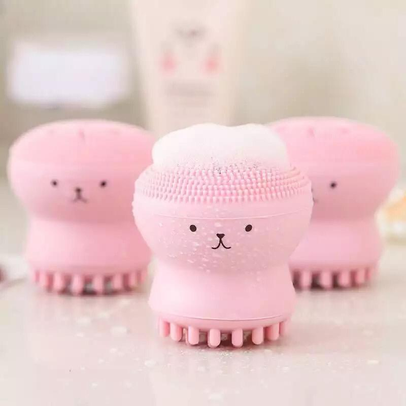 Silicone Face Cleansing Brush Facial Cleanser Pore Cleaner Exfoliator Scrub Washing Skin Care Octopus Shape