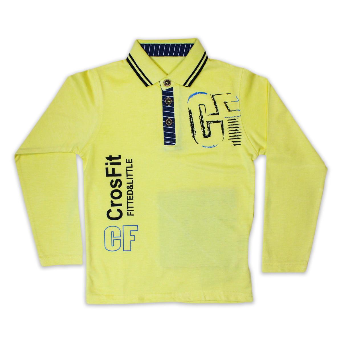 Cut Price Boys Polo T-shirt 3 Yrs - 10 Yrs Printed Cf Yellow