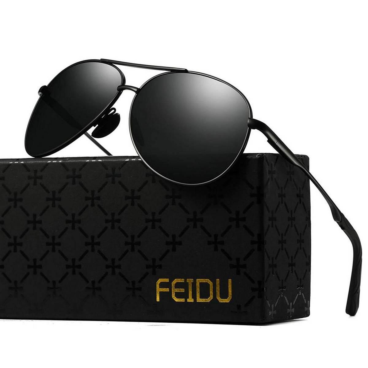 American Style Black Aviator Sunglasses For Men