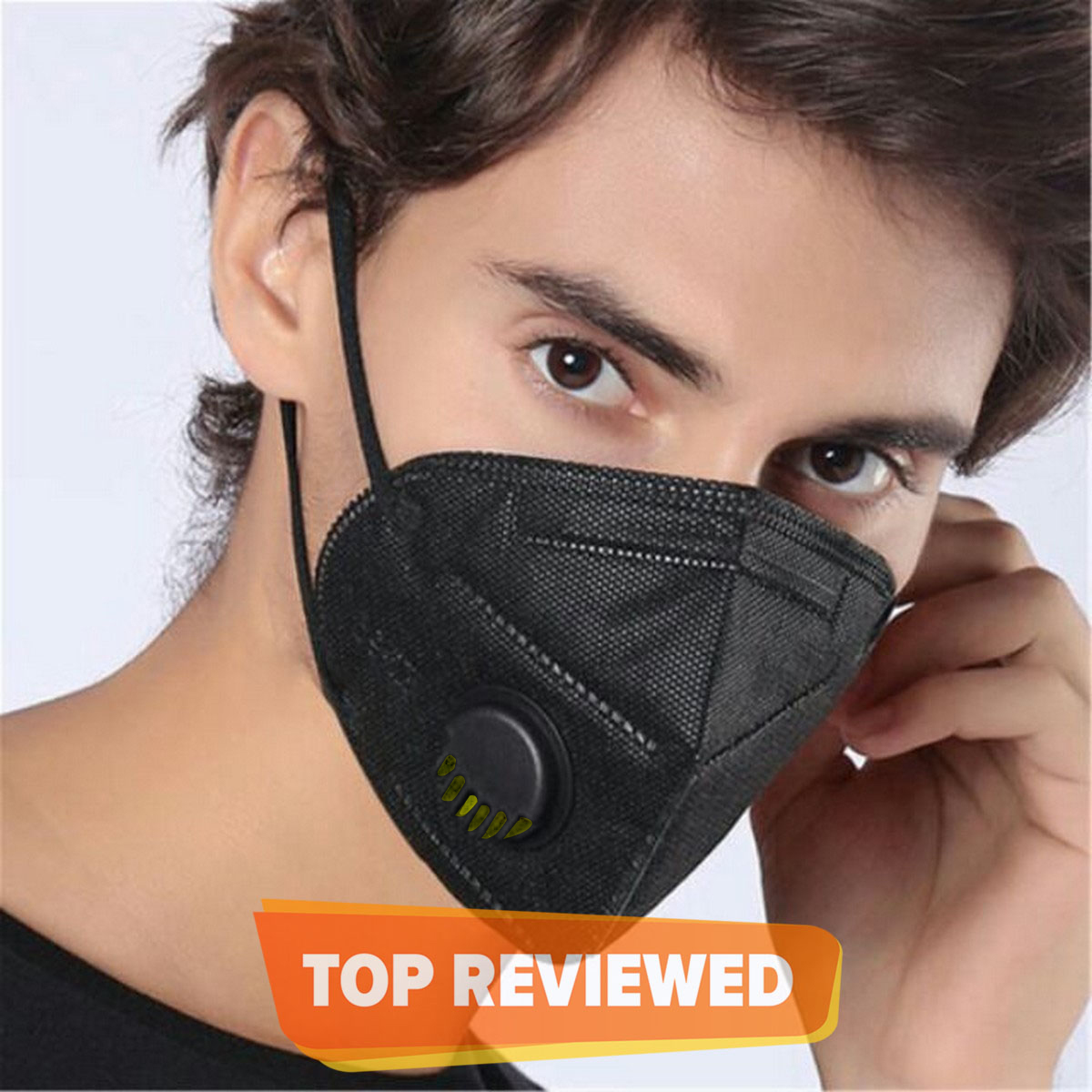 KN95_ MASK_ White RESPIRATOR WITH 5 Layers Protection - CE Certified VALVE & Nose Pin - Shop4you