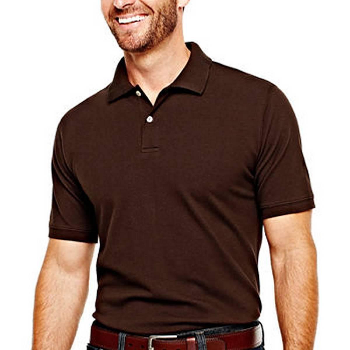 Plain Brown Polo T Shirt For Men (High Quality Fabric)