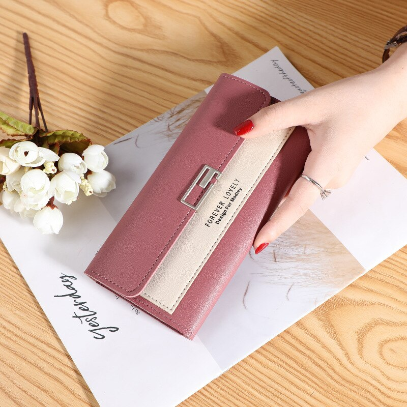 Wallets for Women Leather Cell Phone Case Long Slim Card Holder Cute Minimalist Coin Purse Thin Large Capacity Zip Clutch Handbag Wallet for Girls Ladies