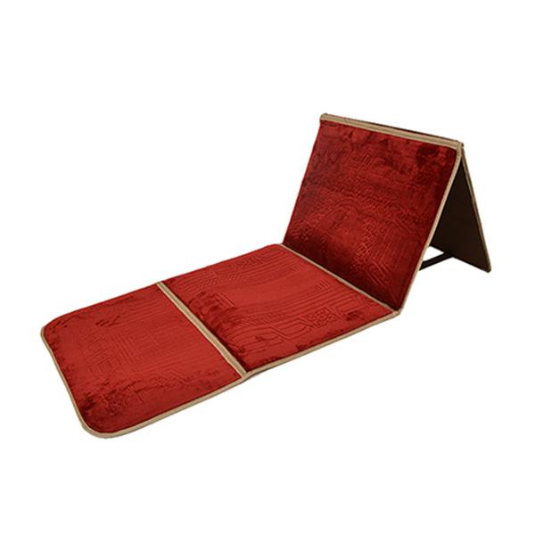 Maroon Foldable Baithak Prayer Mat / Imported Janamaz with Back Rest