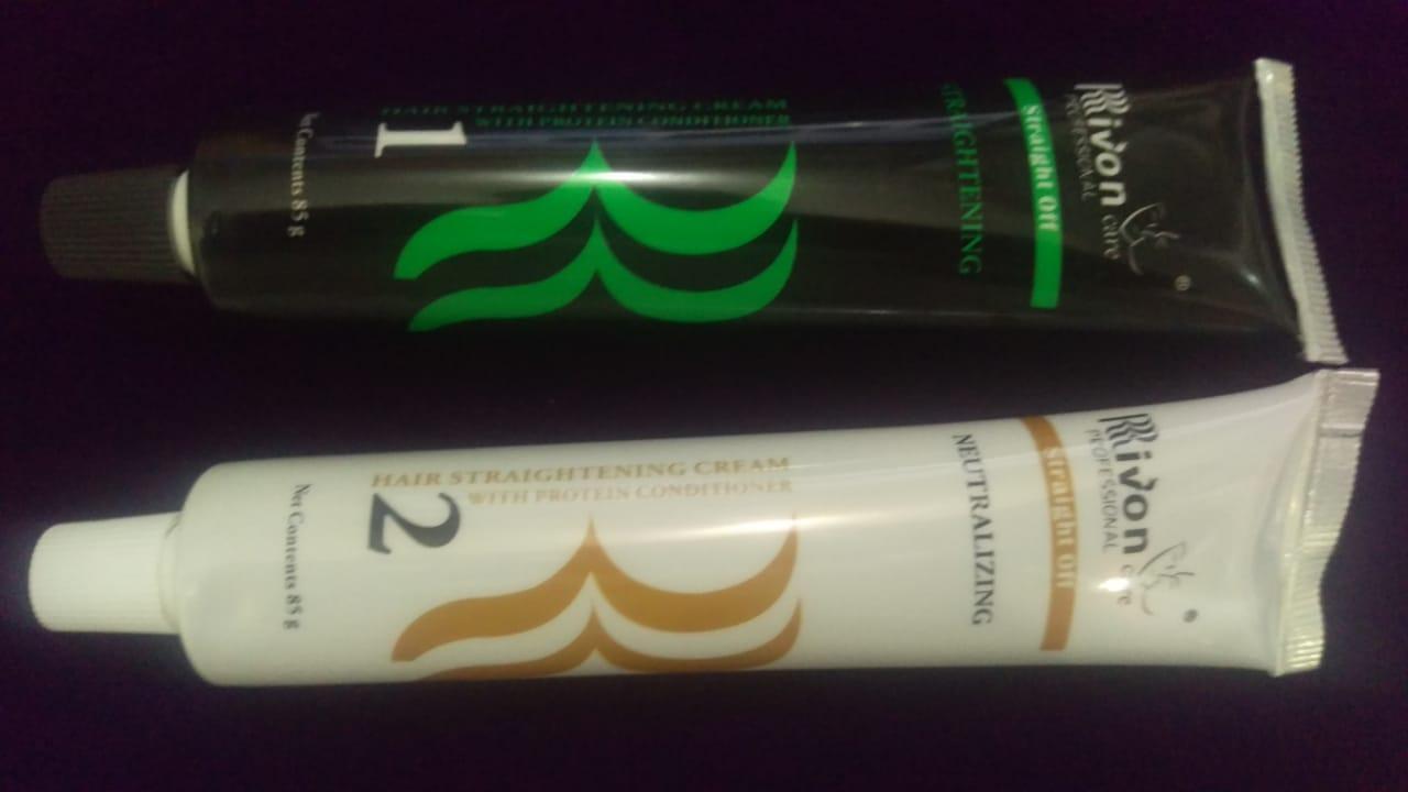 Rivon Hair Straightening Cream With Protein Conditioner