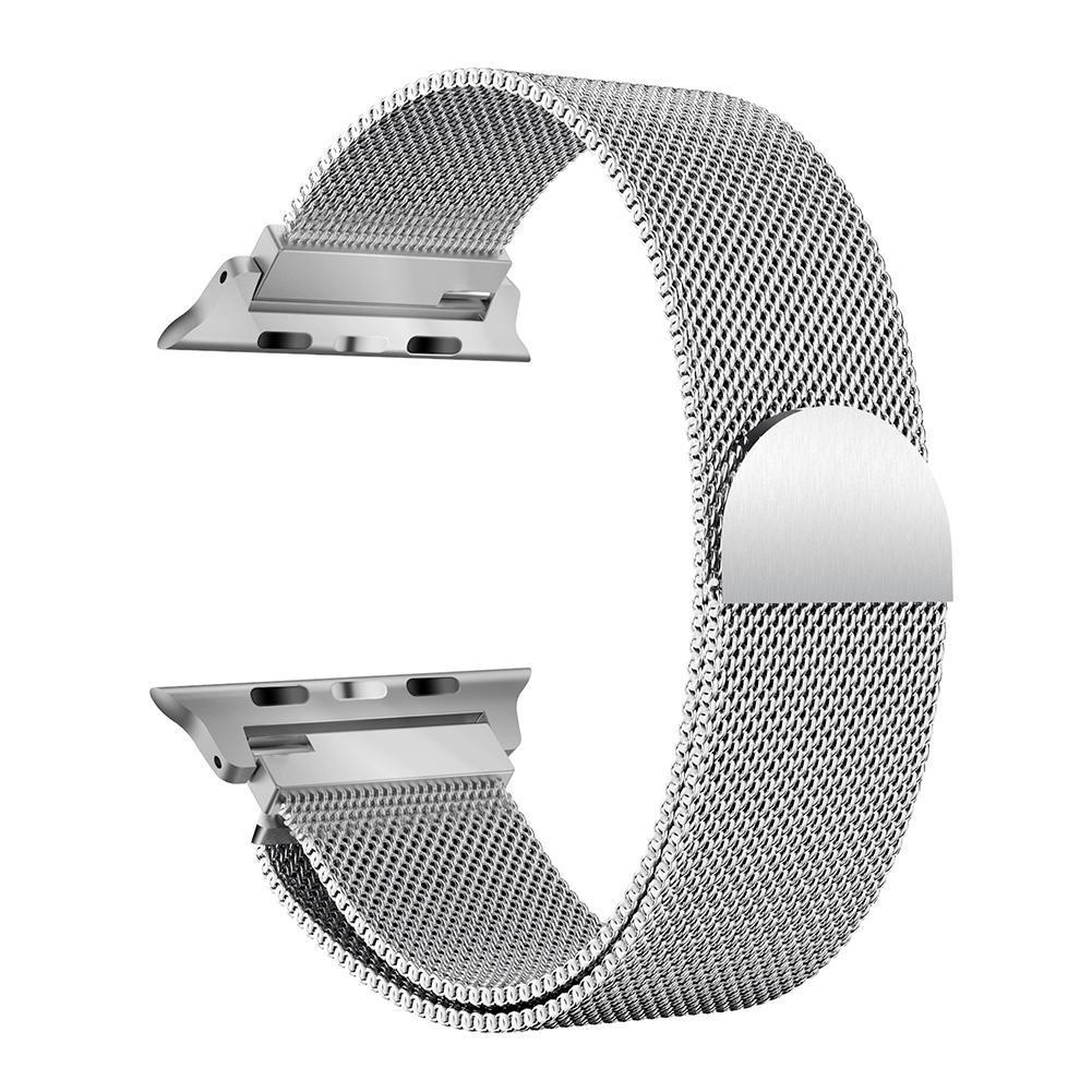Connector+Milanese Loop Watchband Bracelet Wrist Strap for Apple Watch 38mm