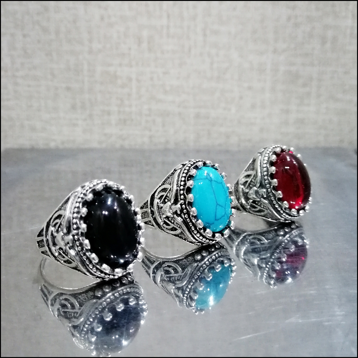 Pack Of 3 Hot Stylish Turkish Design Rings For Men