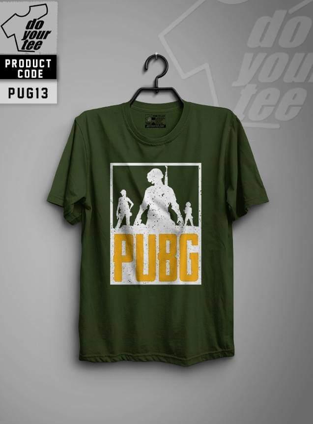 Pubg Squard Digital Printed T-shirt For Men - Black