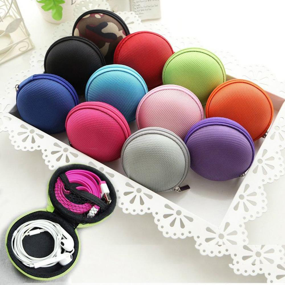 Zipper Fabric Storage Hand Carrying Case For Earphones/ Handsfree And Other Accessories