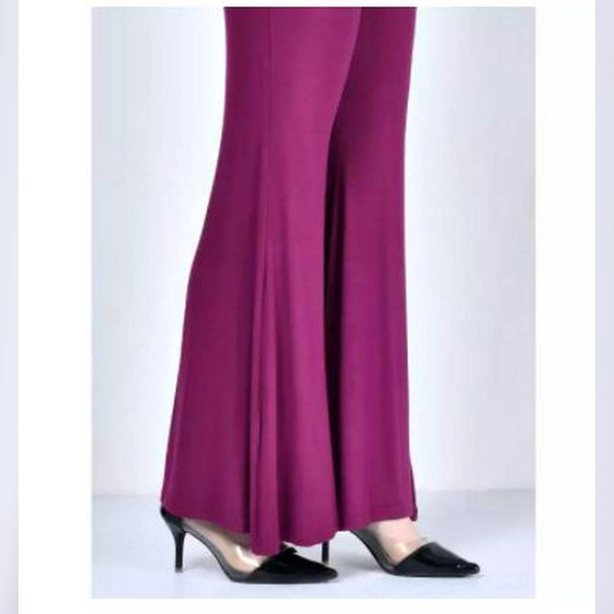 Queen Stitched Dark-Pink Jersey Plazzo Pant for women