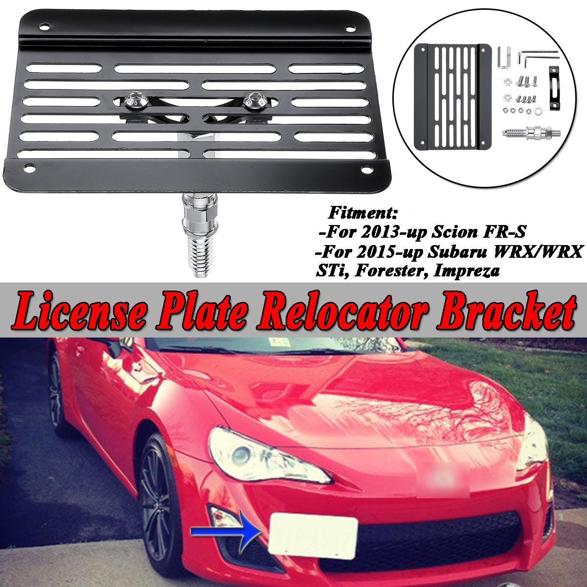 Front Bumper Tow Hook License Plate Relocator Bracket For Subra WRX STI Impreza