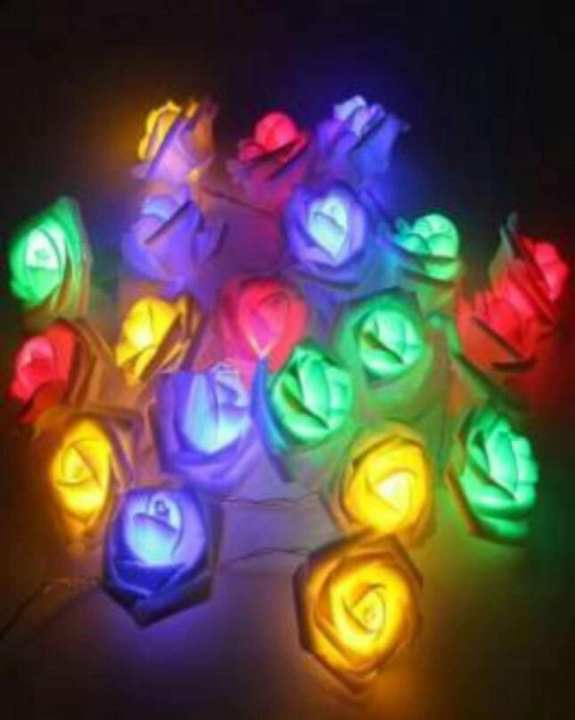 20 LED Soft Garland Colorful Roses String Battery Operated Fairy lights Valentine Decor Holiday Wedding Lighting Strings