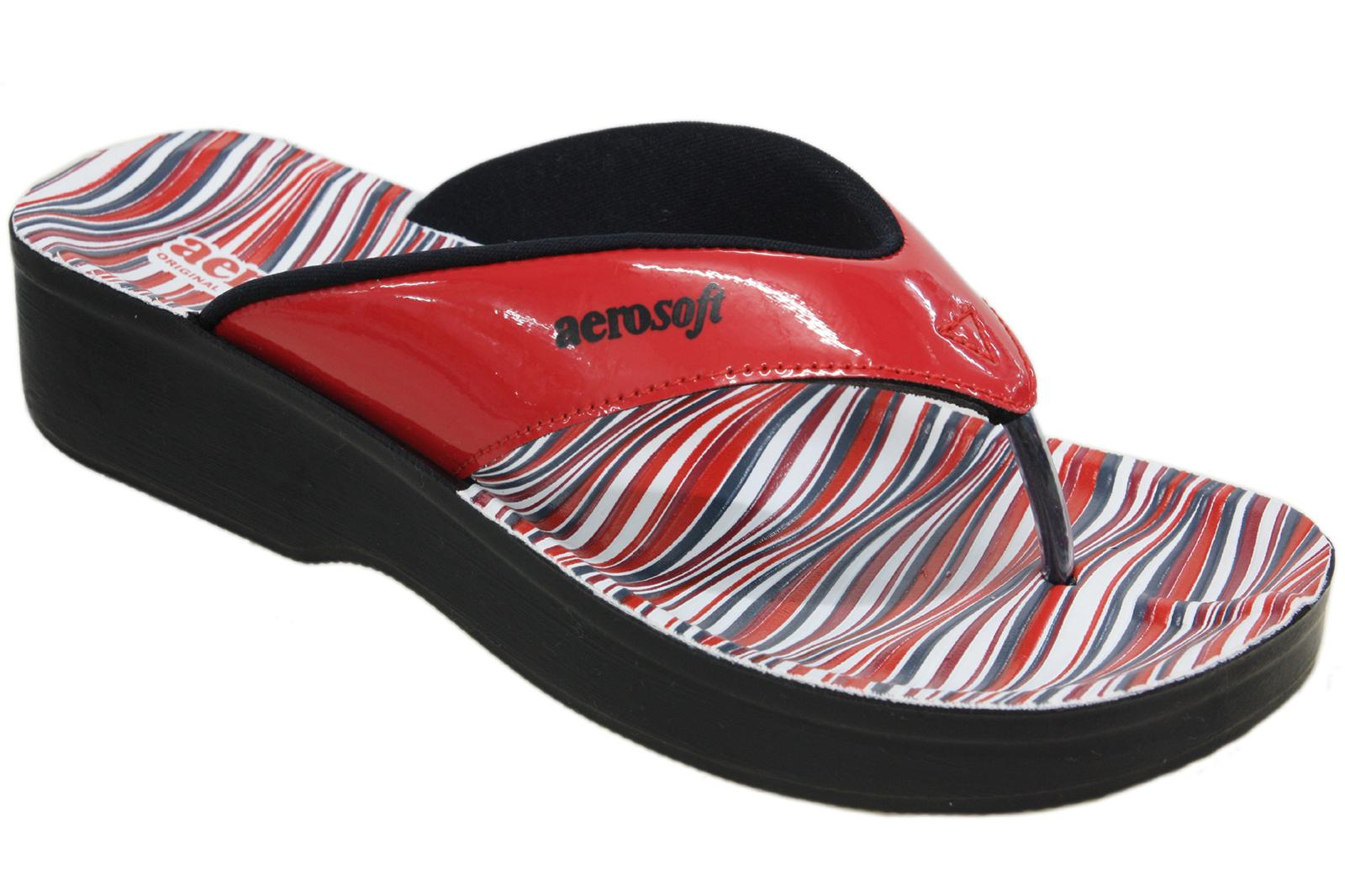 Aerosoft Synthetic Leather Slippers For Women A0893