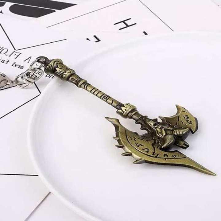 metal key chain World Of Warcraft Sword Weapon Keychain
