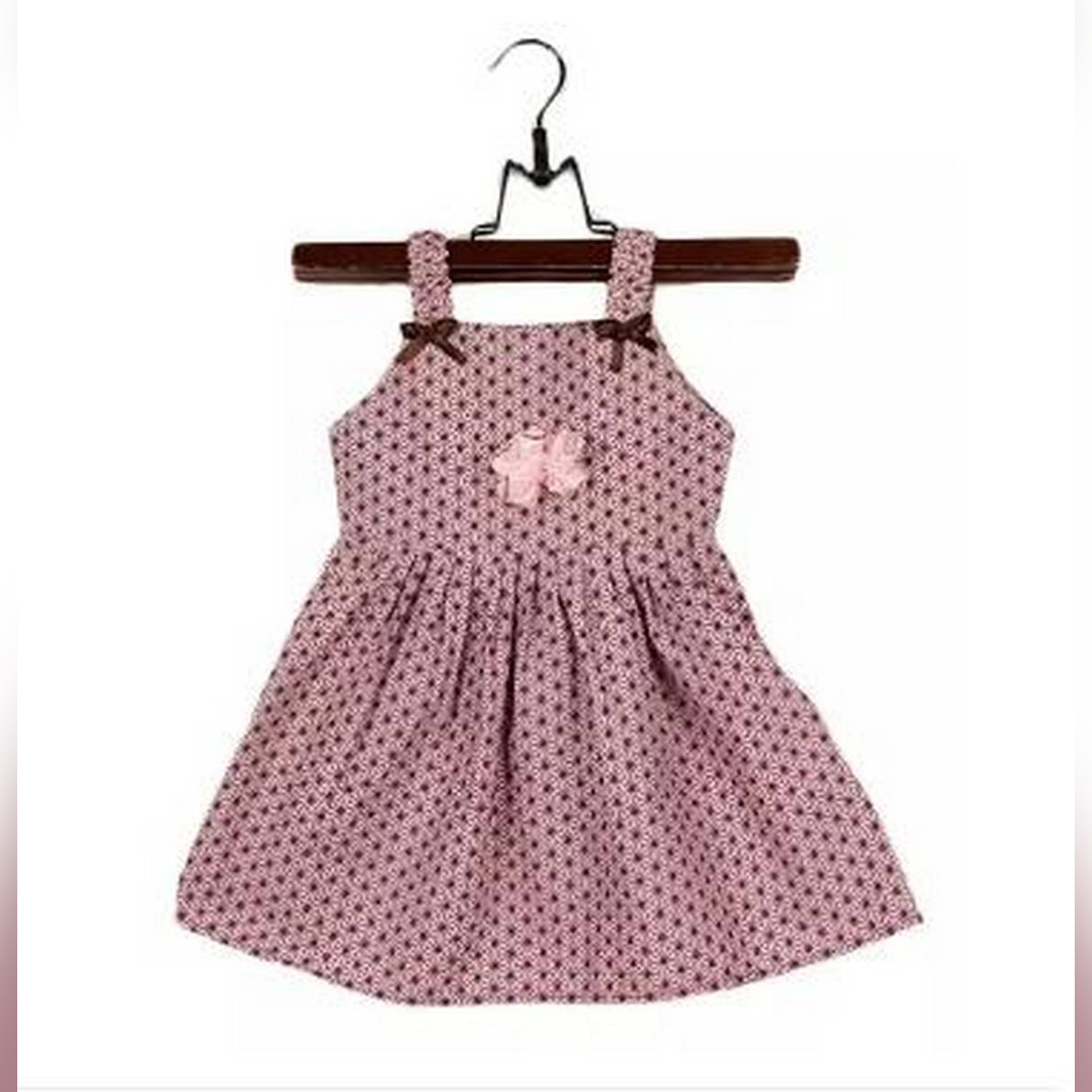 Multi-Color Printed Cotton Frock For Girls