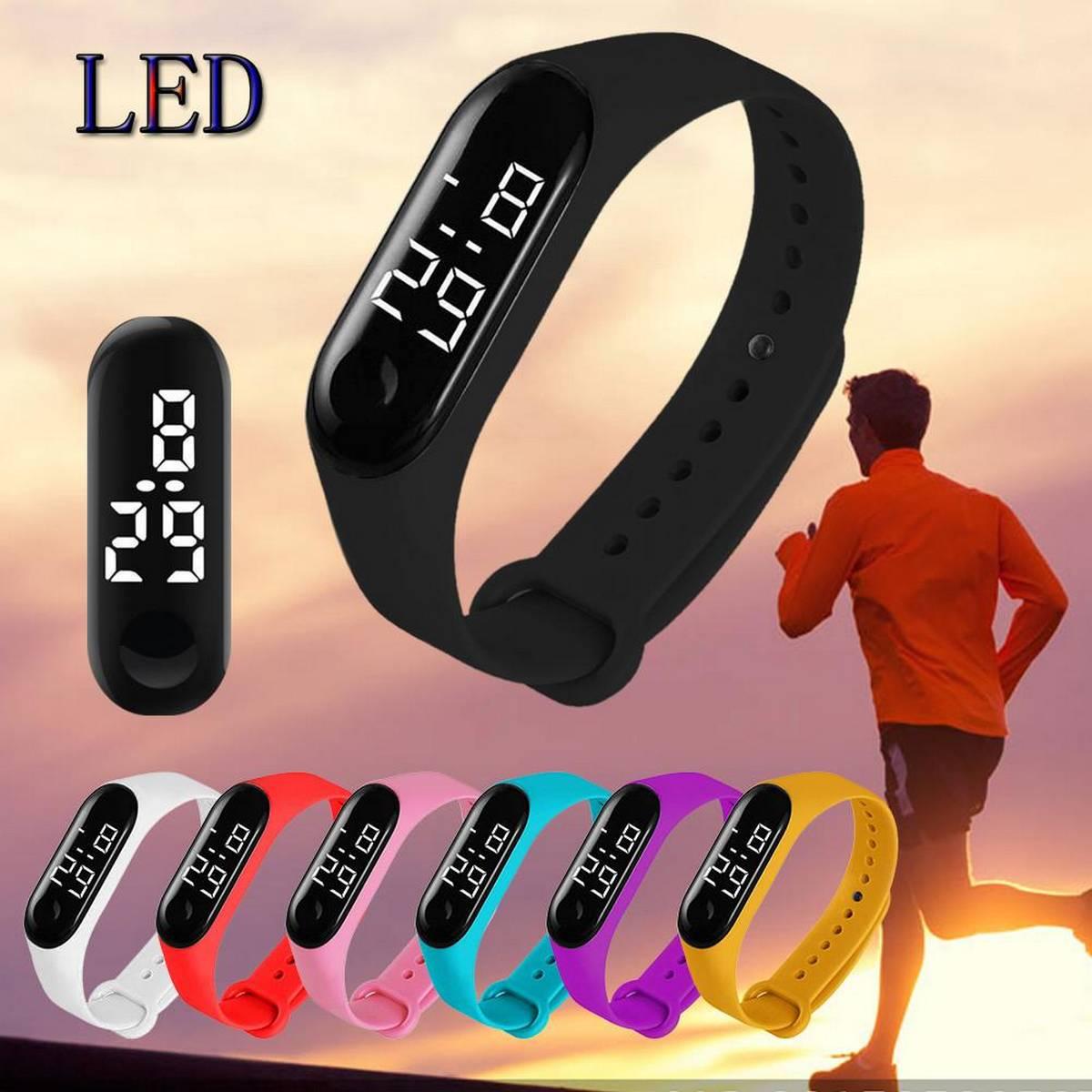 Sports M3 Touch LED Smart  Watch/Bracelet Digital Wrist Band/Hand - Multicolor