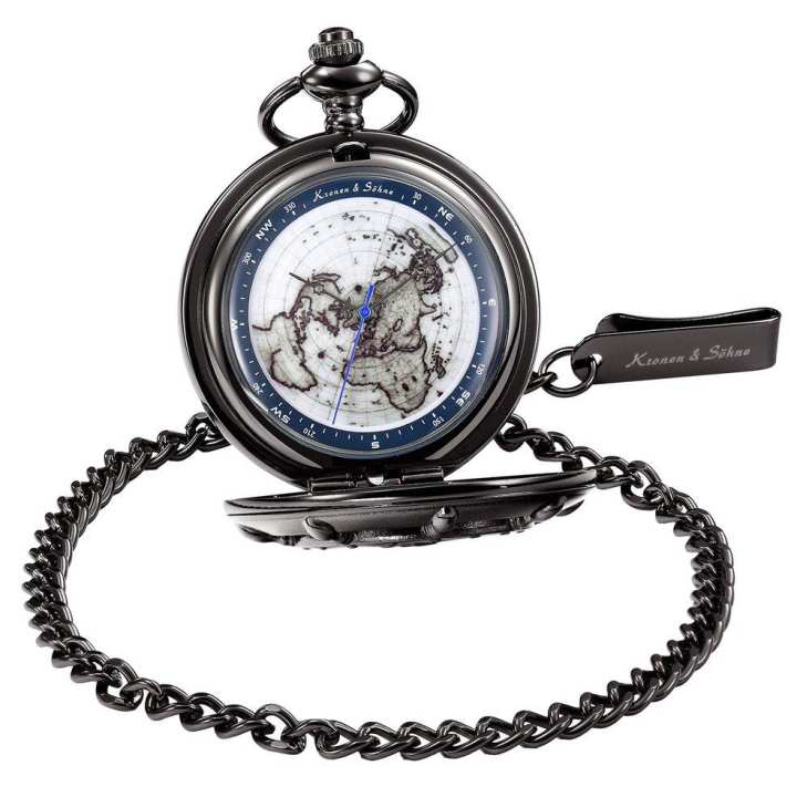 Creative Hollow Mechanical Pocket Watch Alloy Chain Quartz