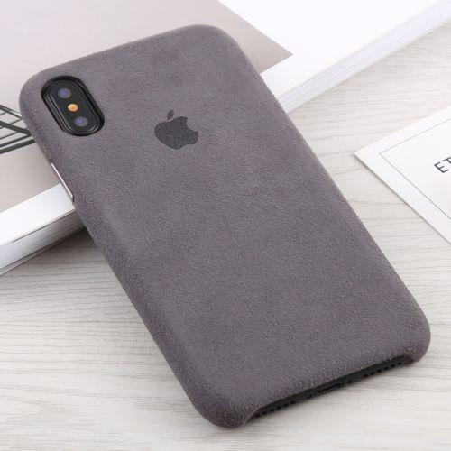 promo code e0bdb faf05 Alcantara + PC Suede Protective Back Cover Case For IPhone XS Max