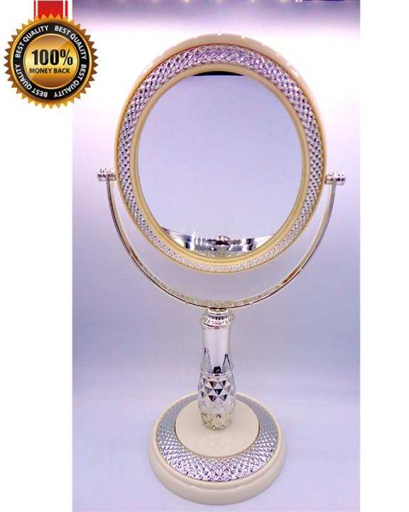 Desk Stand High Quality Portable Cosmetic Makeup Mirror Room Mirror Double-Sided Mirror Normal and Magnifying Mirror
