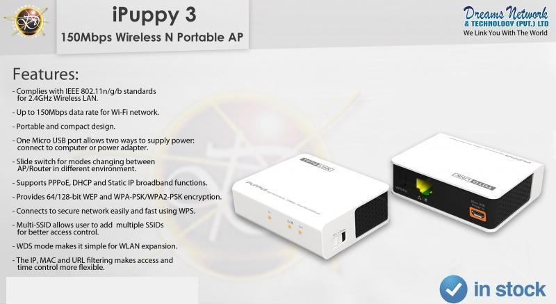 TOTOLINK iPuppy III 150mbps Wireless 802 11n/b/g Portable Travel AP
