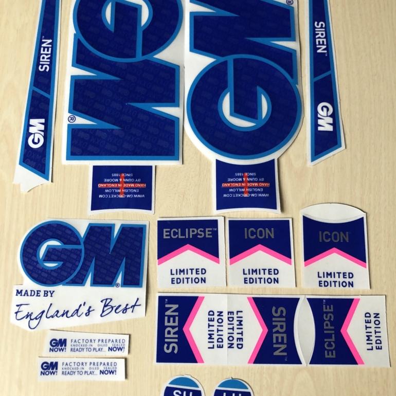 [3D] Gunn & Moore Limited Edition Cricket Bat Stickers [3D]