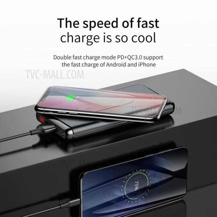 BASEUS Powerbank with wireless charger quick charge qc 3.0 10000mAh