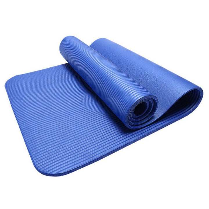Yoga Mat Fitness Exercize Mat Travel Gym Workout Non Slip Extra Thick 1/4 6mm Long Pilates Mat with Carrier Strap Eco No Toxic for Kids Men and Women TPE Reversible