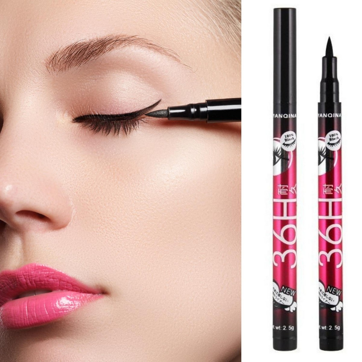 36 hours Waterproof Black Eyeliner Liquid gel liner Make Up Beauty Comestics Eye Liner cosmetic makeup eyeliner pencil