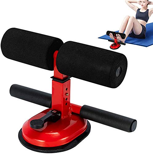 Premium Self-Suction Sit Up Bars Abdominal Core Workout Strength Training Adjustable Situp Assist Bar Household Fitness Equipment Home Gym Exercise for Men & Women