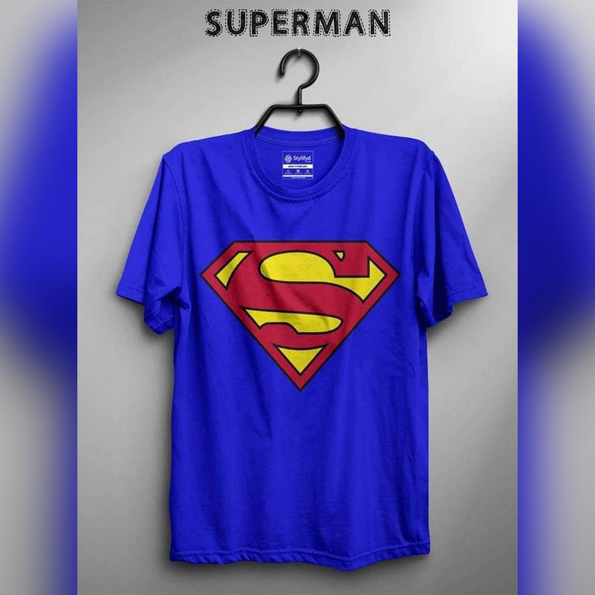 Superman Amazing Smart Fit T Shirt Men O-Neck Half Sleeves Tee Shirt Round Neck Cotton TShirt Casual Tshirt TShirt Summer Wear Spring Wear Tops