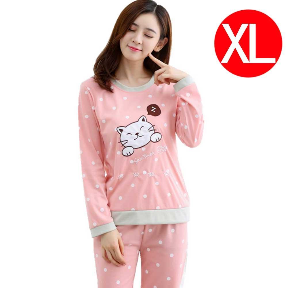 f5d924664 (Home) Spring And Autumn Winter Korean Sweet Comfortable Milk Silk Fabric  Natural Dot Print