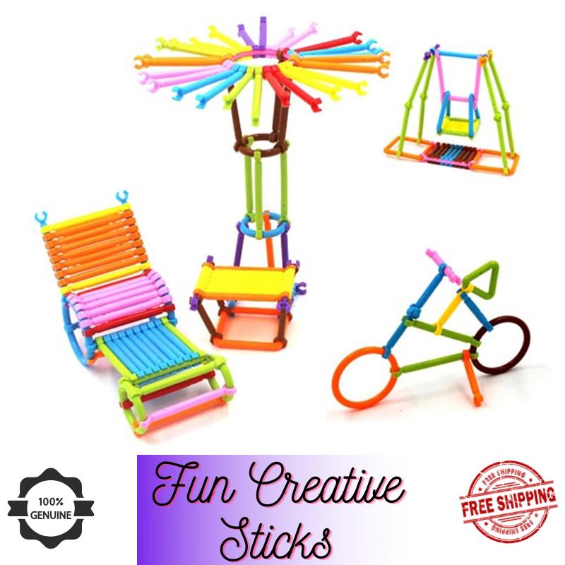Educational Toys Smart Stick Plastic Building Blocks Dream Colorful Activity Sticks Building Blocks Toys for kids