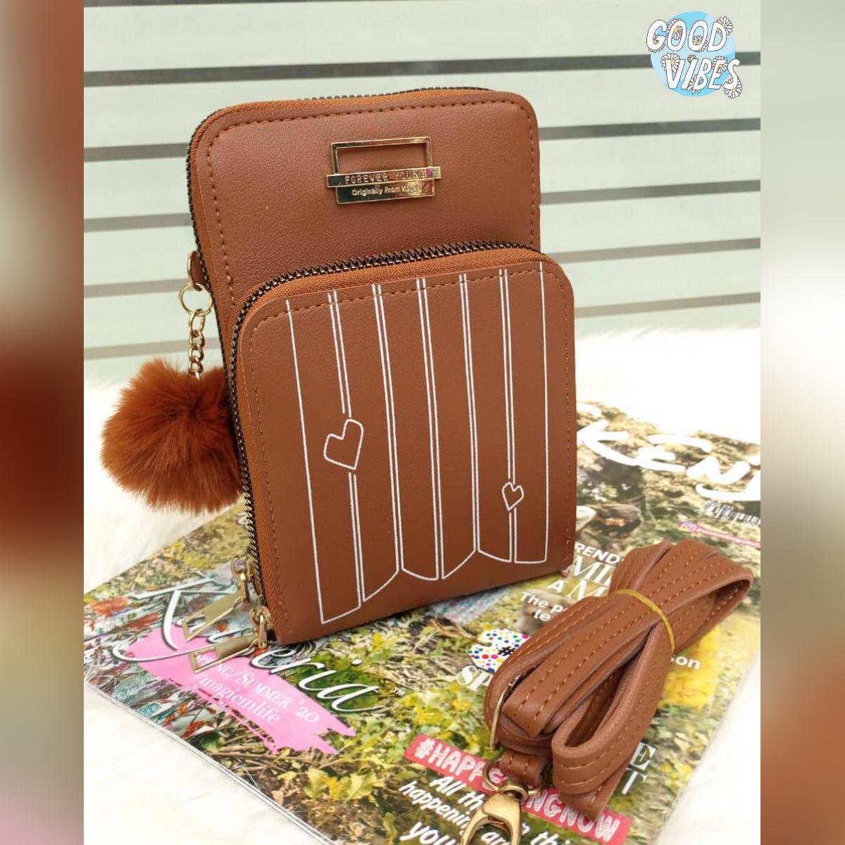 New Women Purses Solid Color Leather Shoulder Strap Bag Mobile Phone Big Card Holders Wallet Handbag Pockets for Girls