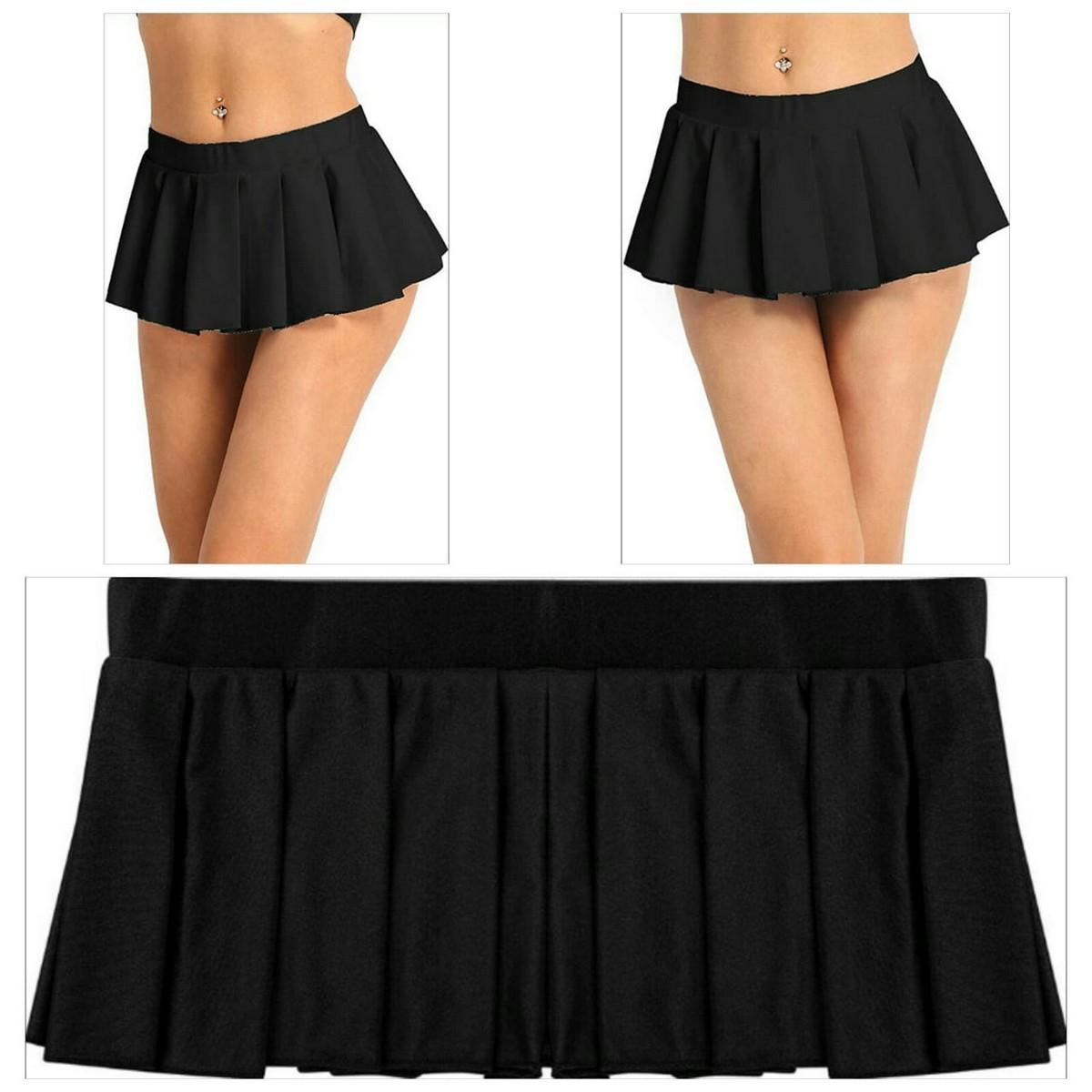 Skirts Store Knife Pleated Mini Skirt For Women - Night Dress - Skirt For Women - Black Skirt