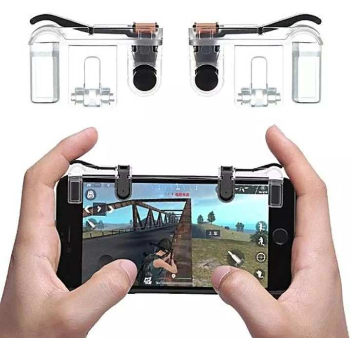 Mobile Gaming Fire Button Trigger L1 R1 Shooter Controller For PUBG/FORTNITE