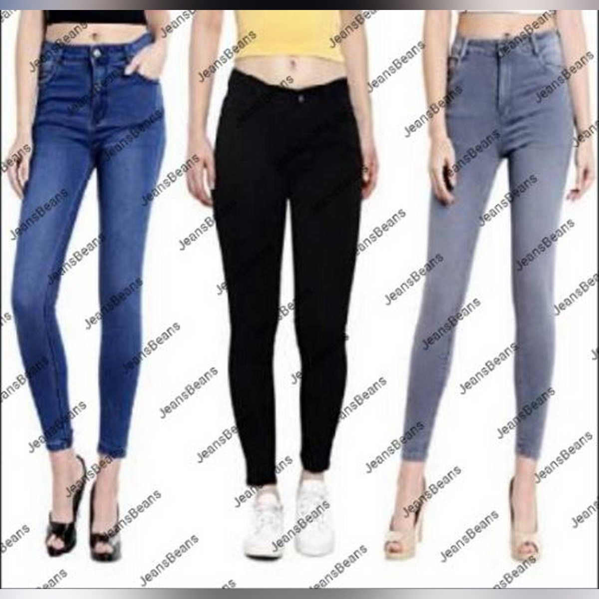 Pack Of 3 New Design Plain Jeans For Ladies Ukcollection