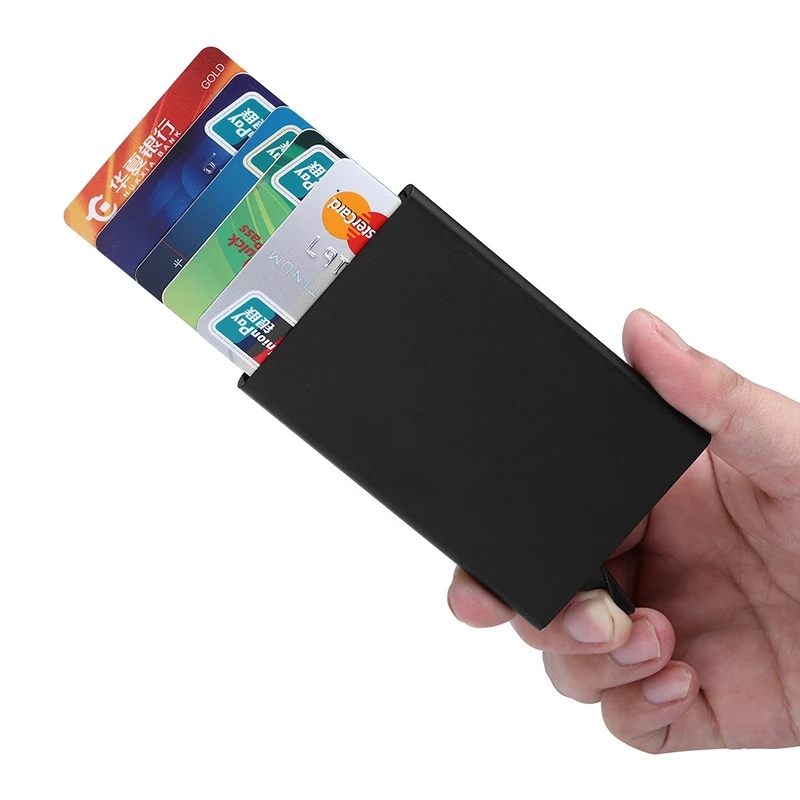 Metal card holder for men and womens