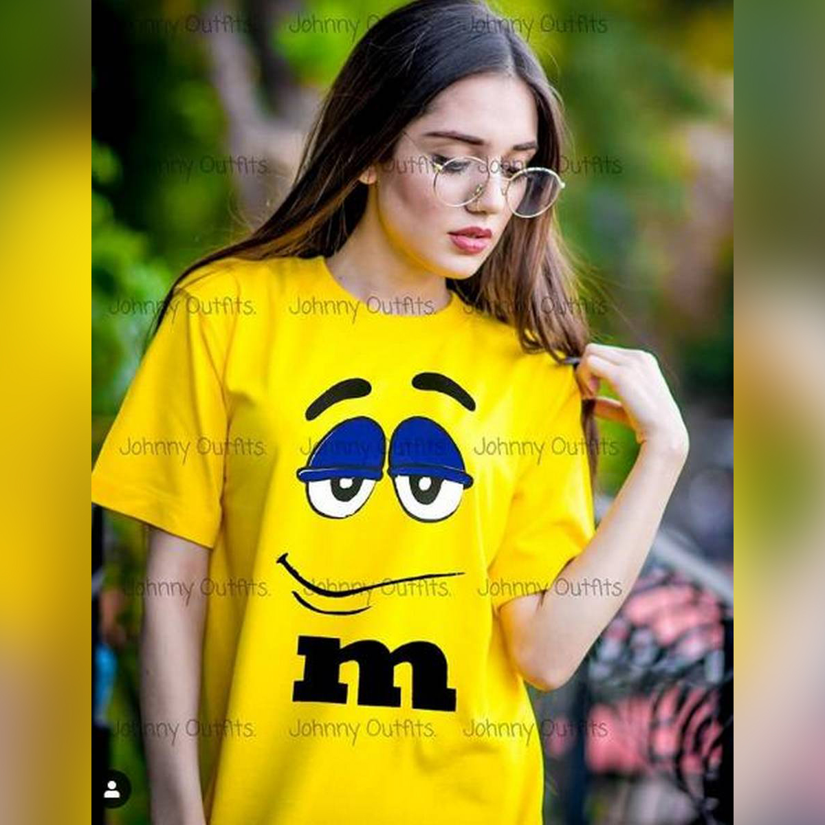 Sleepy eyes Yellow Half Sleeve Printed T-shirt For Women Casual Cotton tshirts For Lady Top Teee