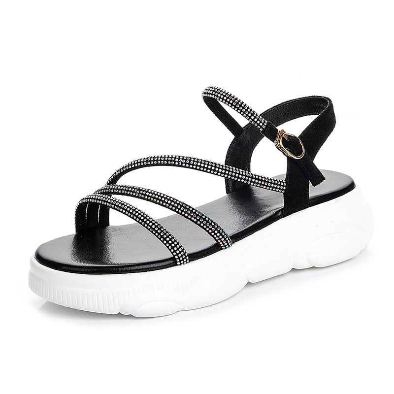 Stylish Sandals for Women Light Weight Sole Pink-Grey-Black-White