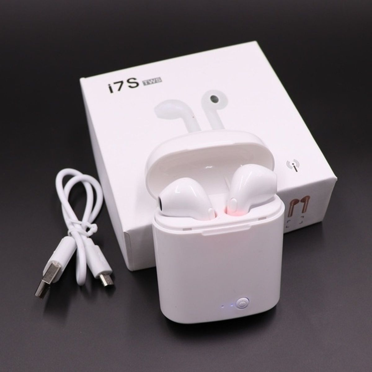 Original i7s TWS Wireless Bluetooth Earphones Top Quality Headphones Headset Dual Side Call Earbuds for iPhone Android Xiaomi i7 i7s i9 i9s i10 i11 i12 Universally Compatible for All Bluetooth Devices