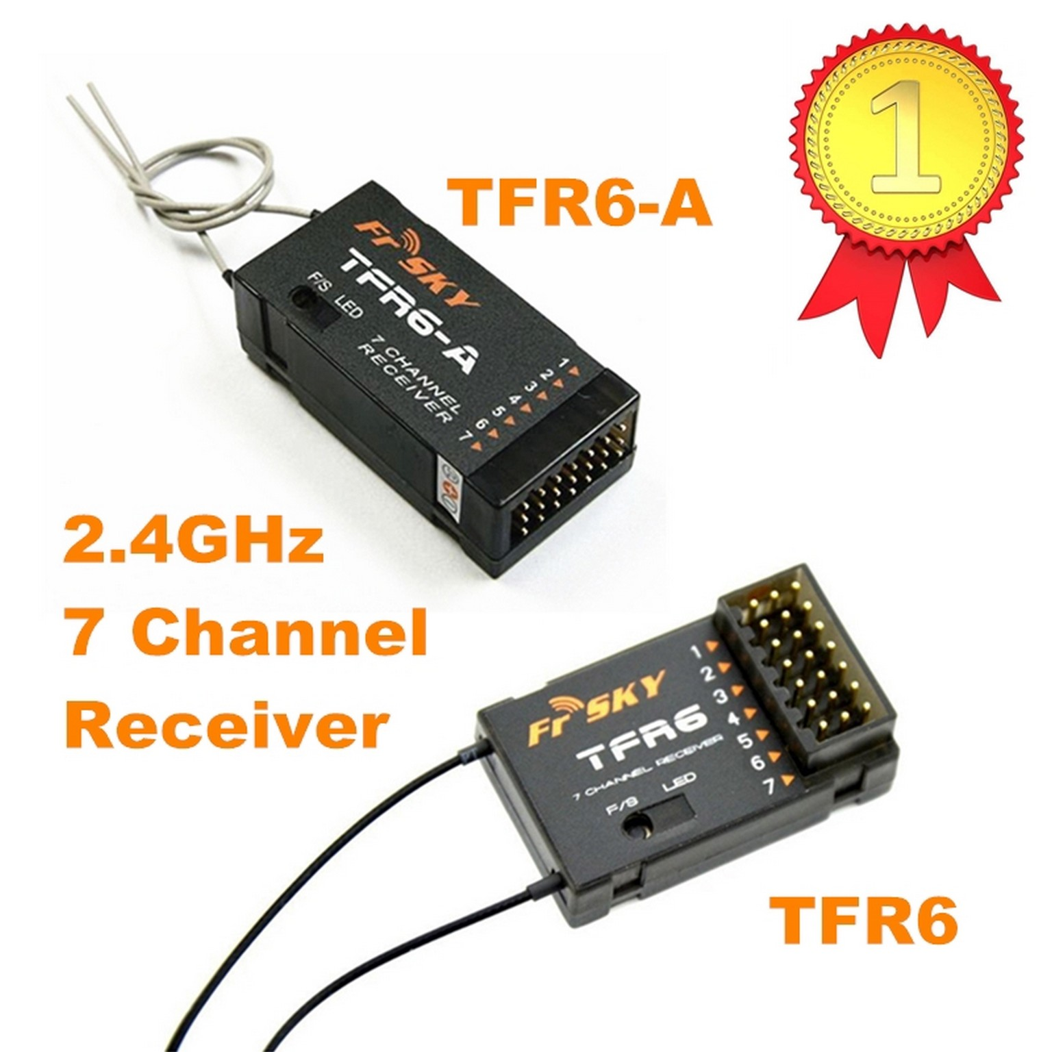 FrSky 7CH  Receiver TFR6/TFR6-A (Futaba FASST Compatible) for Hobby RC Plane