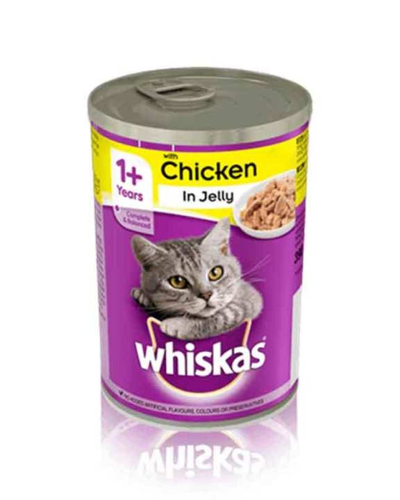 WHISKAS Cat Food Chicken in Jelly 390Gm Tin