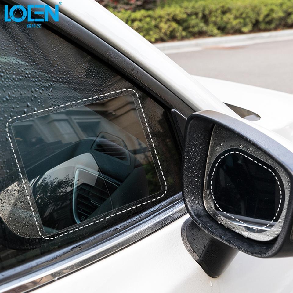 2pcs 100*150mm 2in1 Car Rearview Mirror Rainproof Film Anti Fog Window Foils Rear View Mirror Stickers Screen Protector