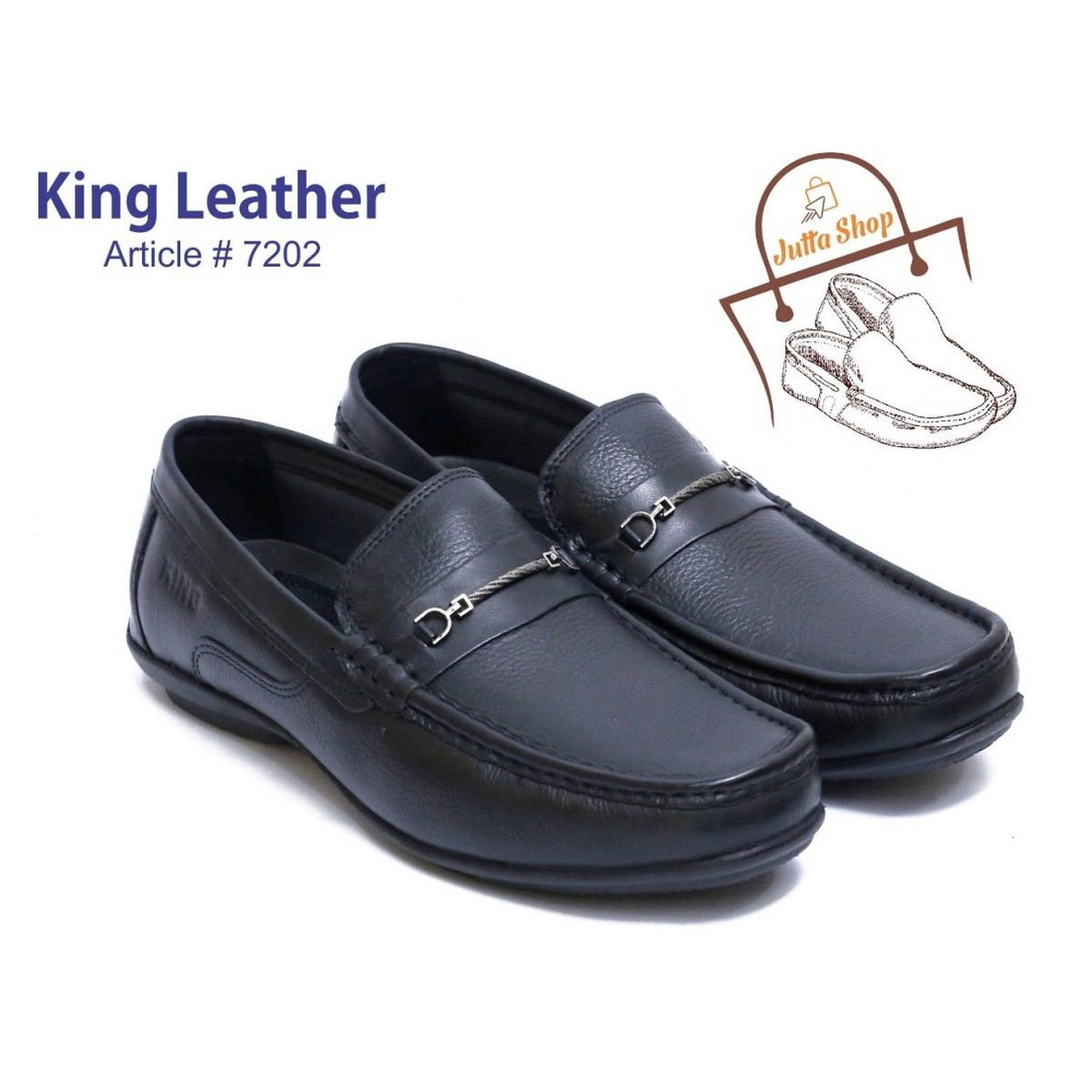 LOAFERS- 100% GENUINE LEATHER HAND MADE FASHION SHOES-  KING LEATHER SHOES ARTICLE # 7202