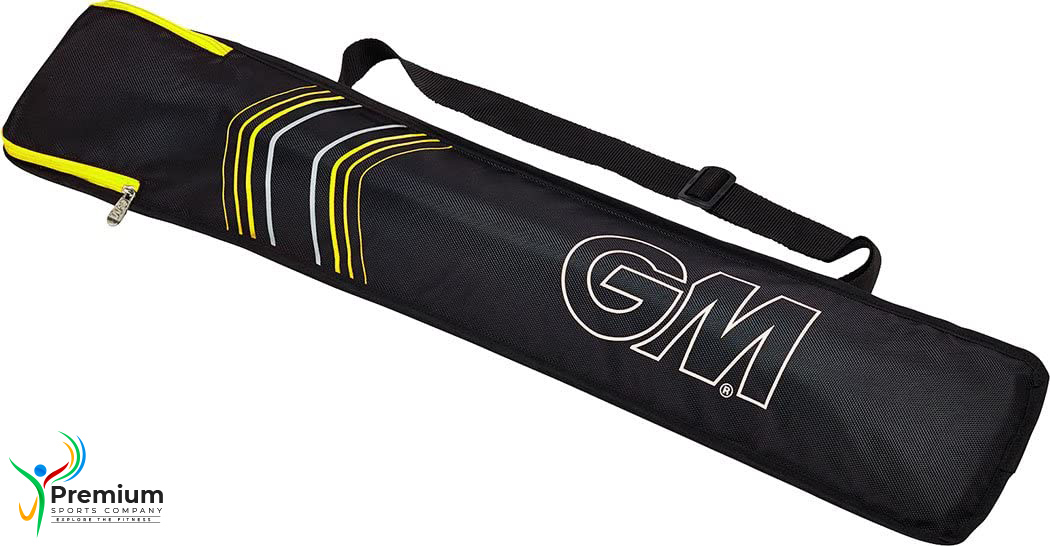 PREMIUM SPORTS Full Length Cricket Bat Cover Protection Bag with Shoulder Strap - 37 Inch Height - MultiColor