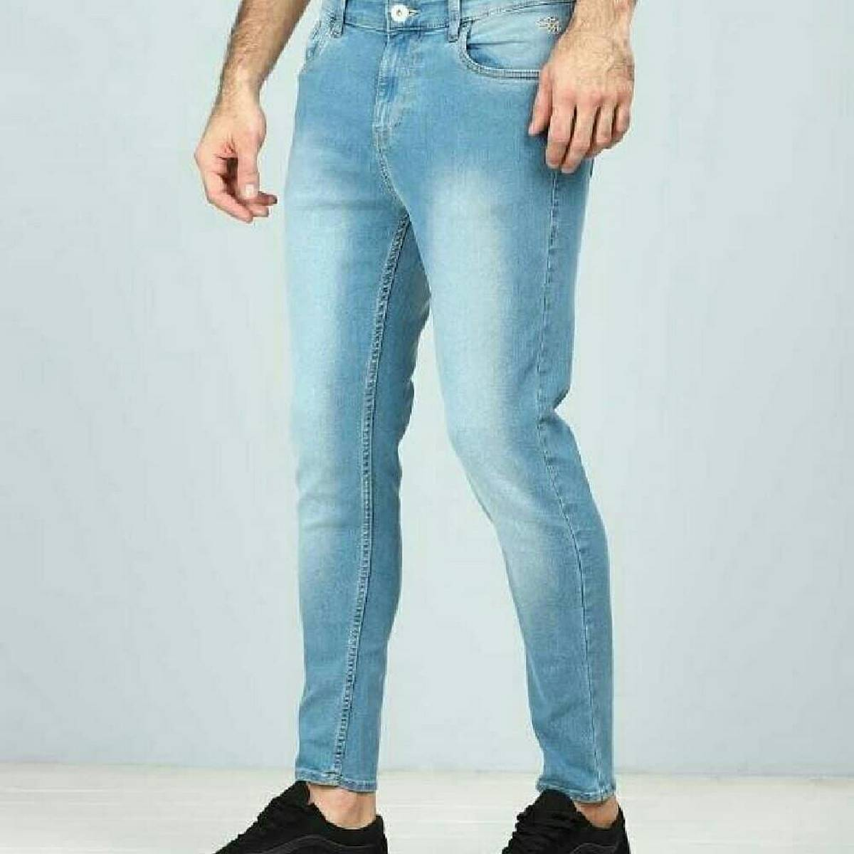 New 2020 design Mens Imported Jeans Denim brand Pencil Pants Fashion Men Casual Slim Fit Straight Stretch Feet Skinny Zipper Jeans For Male Hot Sell Trousers