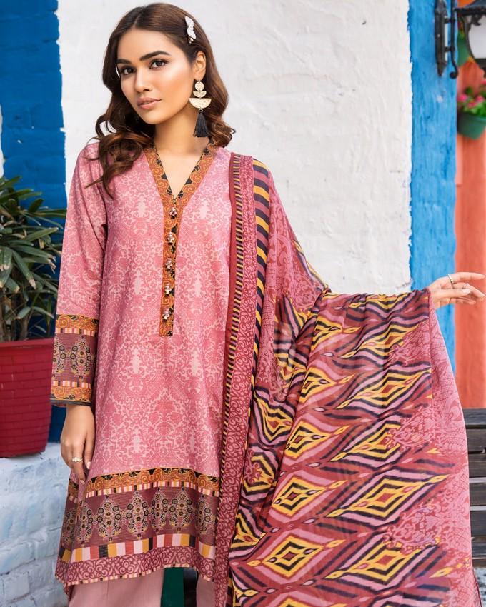 44e2bbcb35 Limelight Folk Magic 3-Piece Unstitched Suit Pink Eid Collection Vol 1 -  U0706-